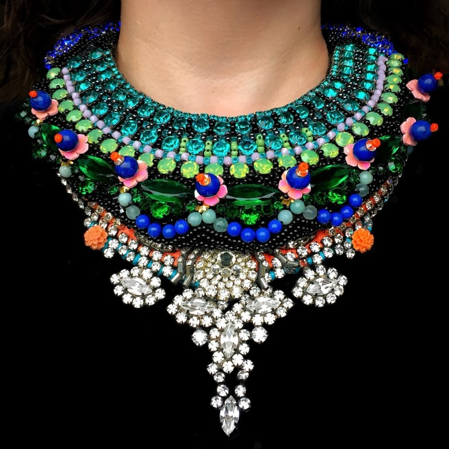 Unique designer jewelry - necklaces for women by Jolita Jewellery, layered together to create luxury look