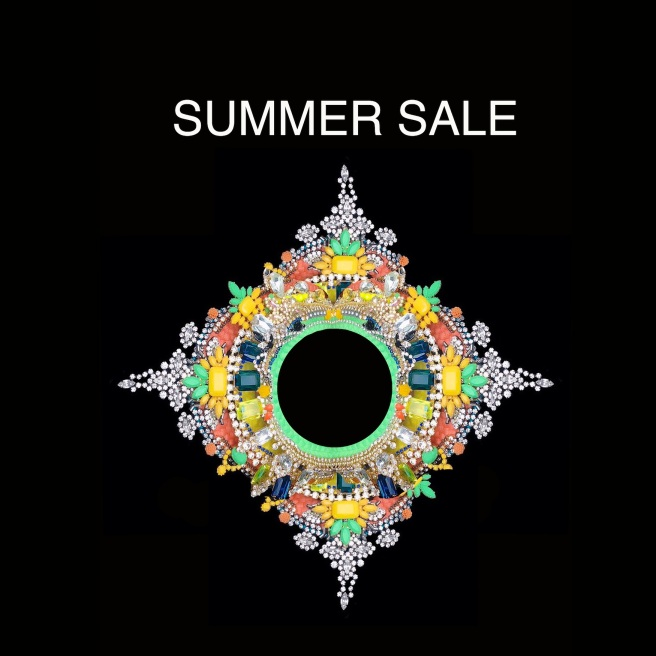 Shop now for Swarovski crystal necklaces handmade in London, at reduced prices. Make an impression with colourful designer statement jewelery.