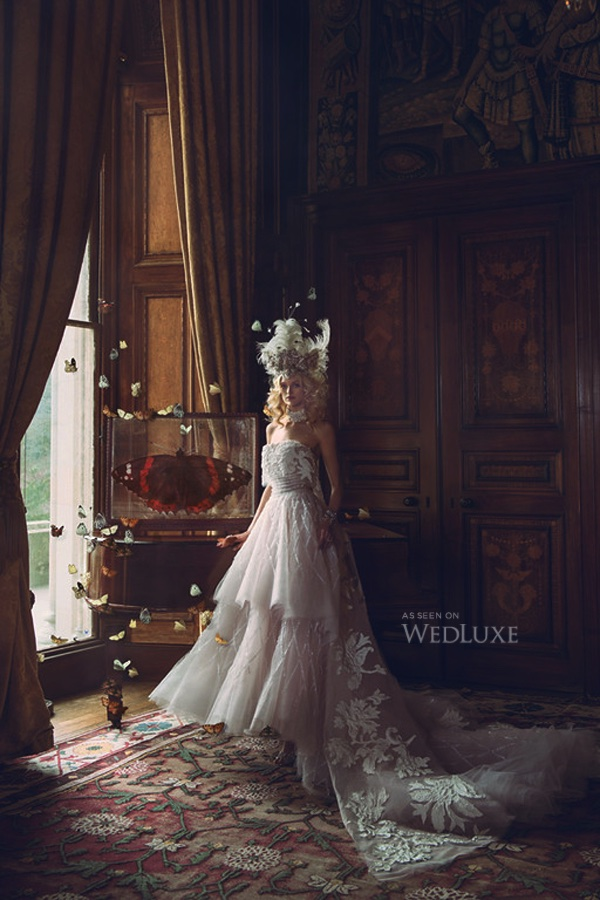 Wedluxe magazine editorial, featuring Jolita Jewellery's crystal bracelet