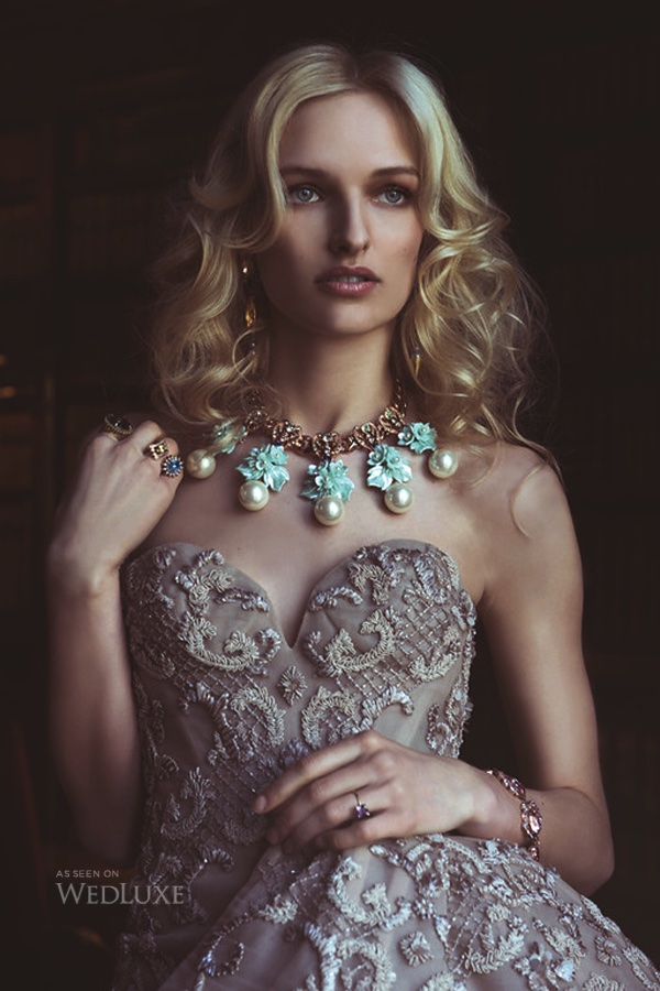 Wedluxe magazine editorial, featuring Jolita Jewellery's crystal earrings