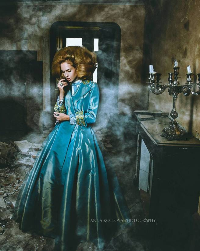 HAUNTED editorial for Salyse magazine, featuring crystal earrings by Jolita Jewellery
